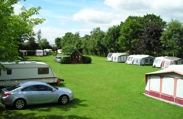 Pembroke caravan park touring pitch view
