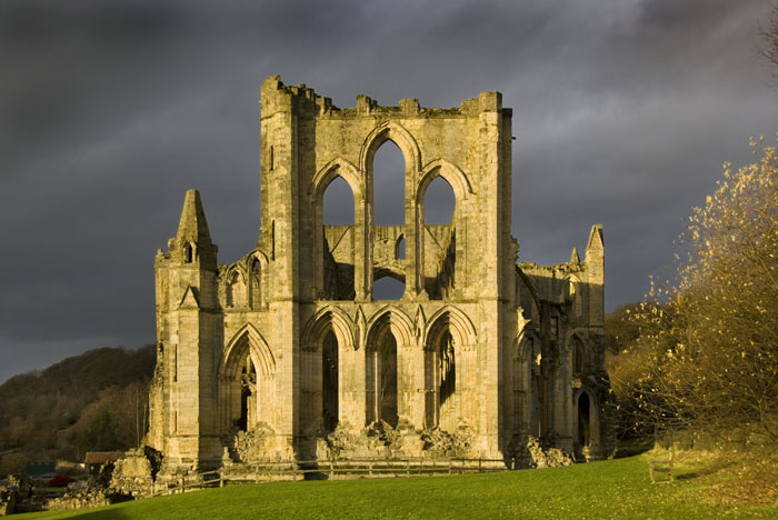 Stormy skies over rievaulx abbey