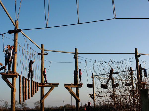 High ropes challenge