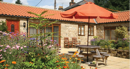 Rosedale abbey cottages courtyard