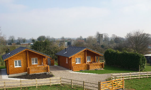 The hawthornes lodges exterior shot